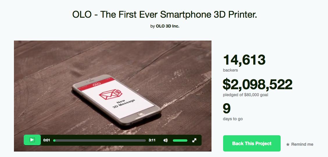 3D printen met je smartphone en een beetje licht (kickstarter project)