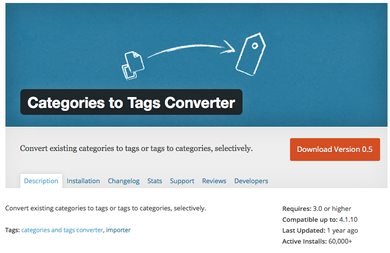Categories-to-Tags Converter-screenshot-inktspatten